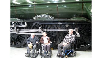 Residents are thrilled to see the Flying Scotsman at The Shildon Railway Museum