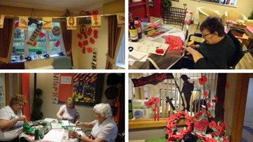 Huddersfield care home creates beautiful poppy display for Remembrance Day