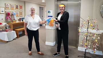 Local school donates protective face shields to Durham care home