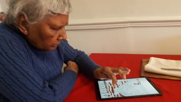 Technological fun for Residents at Bingham care home