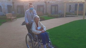 York care home Resident explores her brand new home