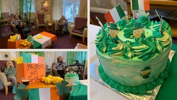 A virtual Irish party at Wiltshire care village