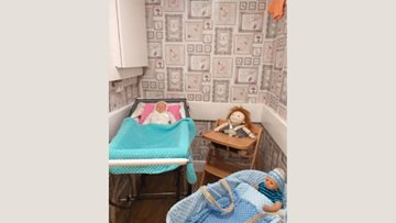 Nursery reminiscence area set up for Chaseview Residents to enjoy