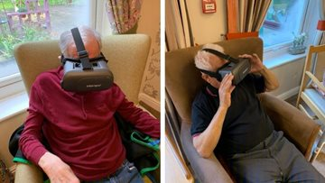 Residents explore virtual reality at Oldham care home