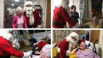 Santa pays a magical visit to Residents at Bridgend care home