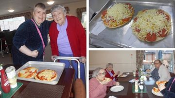 Pizza-making goes down a treat at Colton care home
