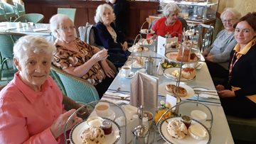 Millbrook care home Residents enjoy luxurious afternoon tea at Stockport Plaza