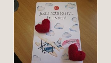 Wakefield care home Residents send knitted hearts to their loved ones