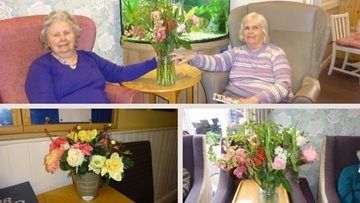 Arranging the perfect bouquet at Honiton care home