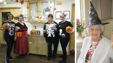 Fancy dress is a success as Hinckley care home celebrates Halloween