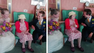 Redcar care home Resident surprised by newlyweds