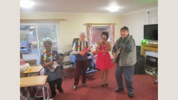 Himley care home Residents enjoy sing-along afternoon