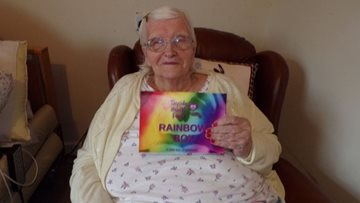 NHS Rainbow boxes put a smile on Arbroath care home Residents faces