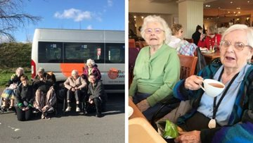 Broadway care home Residents enjoy afternoon of retail therapy