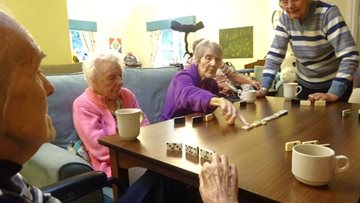 Residents enjoy traditional games afternoon at Grimsby care home