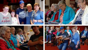 Singing for the brain is a success at Merthyr Tydfil care home
