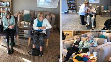 Eastbourne House helps local animal shelter with Knit and Natter group