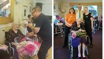 16 Year celebration for Care Home Resident