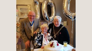 Residents celebrates 100th birthday at Whitley Bay care home