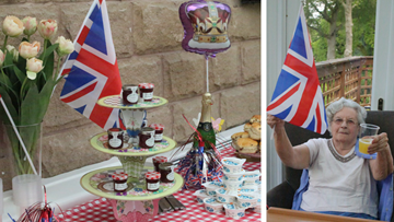 Royal wedding celebrations at Belper care home