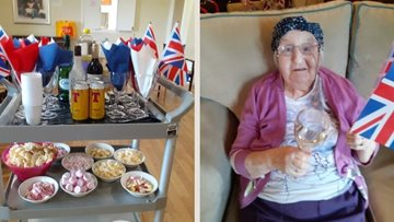Stirling care home Residents celebrate Captain Tom's 100th birthday