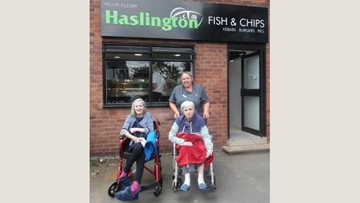 Fish and chips delight at Haslington care home