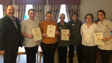 Team members celebrated for long service at Coal care home
