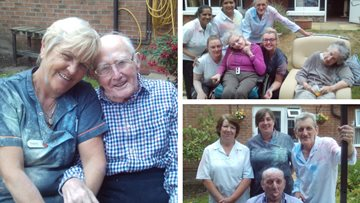 A splash of colour at Warrington care home