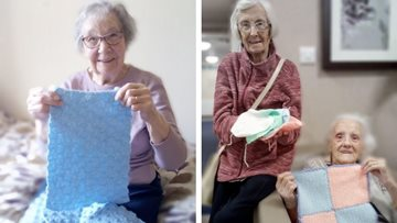Huddersfield care home Residents knit blankets for animals injured in Australian wildfires