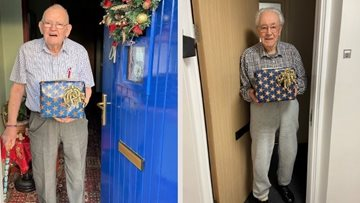 Durham care home gift Christmas hampers to Veterans in local community