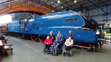 Grosvenor House Residents are transported back in time during Railway Museum visit