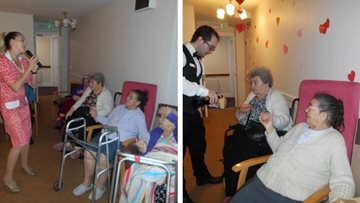 Valentine's Day at Newcastle care home
