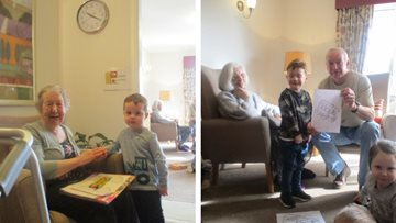 Hawthorn Court Residents welcome colourful visit from local nursery