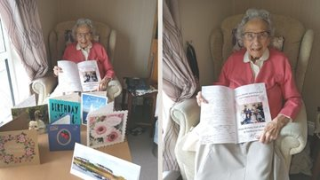 Centenarian celebrates birthday at Whitley Bay care home during lockdown
