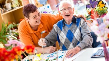 Weekly Arts and Crafts at Millbrook Care Home