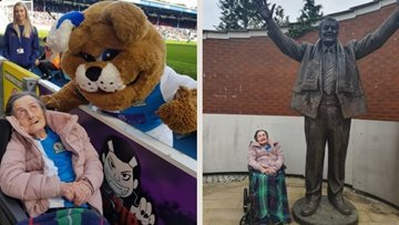 Tribute to Blackburn Rovers superfan Dolly and her day out