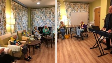 Charters Court care home enjoys afternoon of singing