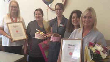 Local Care Homes recognises two members of staff for 20 years of service