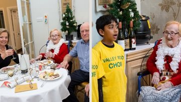Care home raises £200 for Oxfordshire Lowland Search and Rescue during annual Christmas party