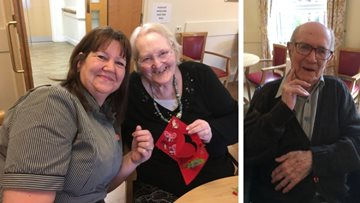 Residents get crafty at Burntwood care home