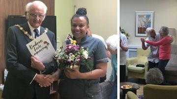 Mayor of Dudley visits local care home