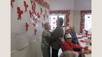 Love is in the air at Birkenhead care home