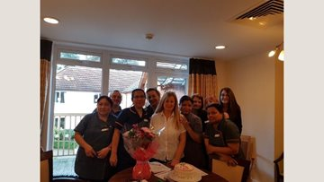 Charters Court care home bids farewell to Colleague