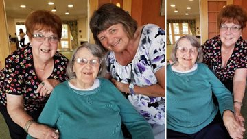 Resident reminisces with best friend of 79 years