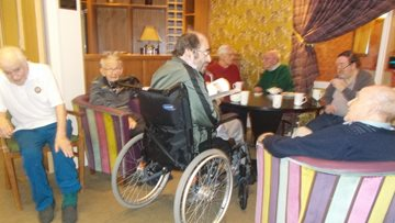 Monthly men's club at Essex care home