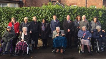Silverwood Care Home pays respects to war heroes at Nottingham Remembrance Parade