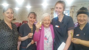 Glasgow care home celebrates hardworking team during Proud to Care week