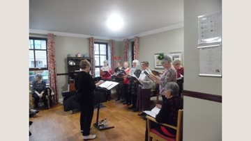 Crewe care home welcome Women's Institute choir