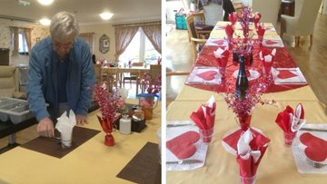 Valentine's Day celebrations in full swing at Bristol care home