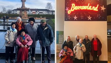Falkirk care home Residents enjoy reminiscent trip to the People's Palace